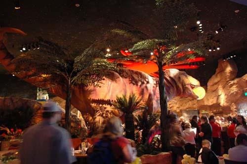 Disneyland resort paris abierto el t rex restaurant en for Restaurant t rex