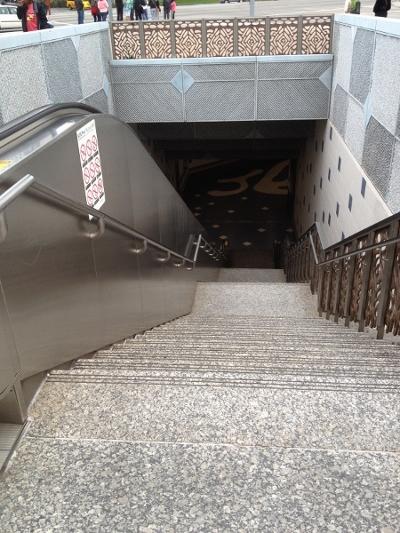 DL No Car – Entering the Metrolink Subway